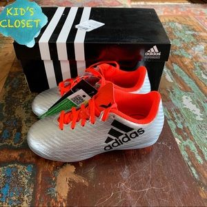 Adidas Silver Soccer Shoes - size 11 K